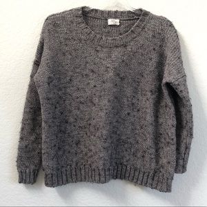 Madewell Wallace Softstitch Sweater Gray Small